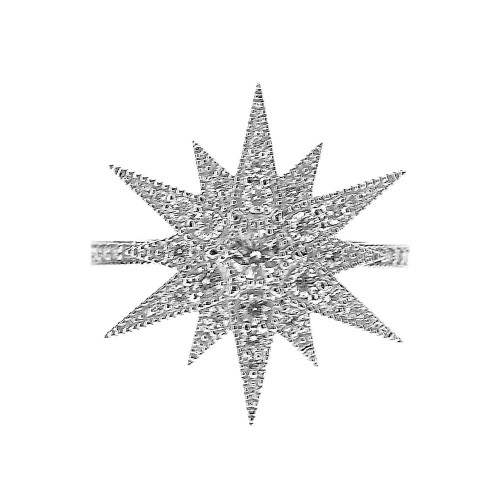 18ct RBC 12 Pointed Star Ring