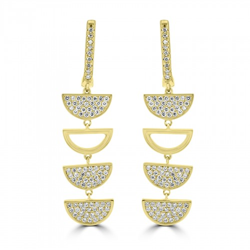 18R RBC 0.84ct 3x Pave D 1x Open D Drop Earrings