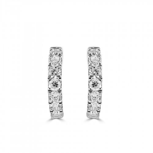 18W 14x RBC 1.02ct 20mm Diametre Hoop Earrings