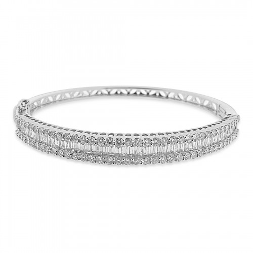 18W 80x Bag Dia 0.81ct w/ 90x RBC Dia 1.98ct Octavia RBC On Top Bag In the Centre Bangle