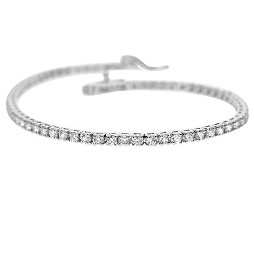 18W 37x RBC 1.35ct 4 Claw Half Set Line Bracelet