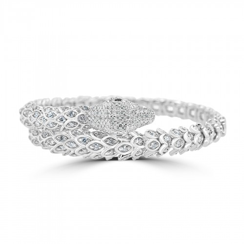 18W 379x RBC 4.23ct Fancy Scale Snake Bangle