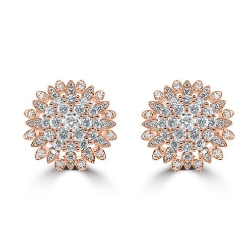 18R 67x RBC Dia 2.32ct Fancy Flower Cluster Ring