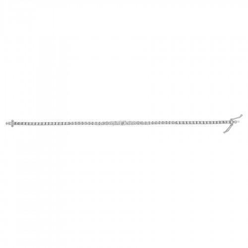 18W 29x RBC 2.67ct Half Set Grad Line Bracelet