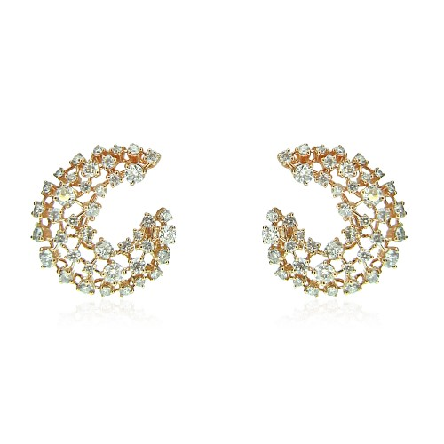 18R RBC Fancy Open Tear Drop Earring