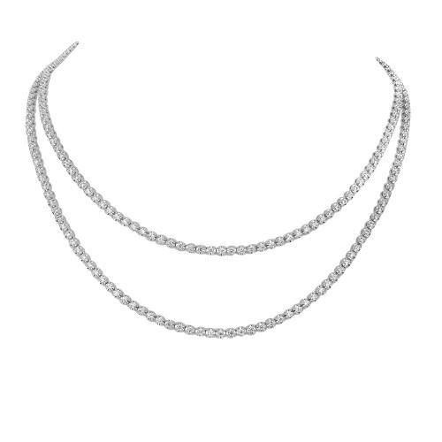 18W 271x RBC Dia 7.08ct Crown Full Line Sautoir Necklace