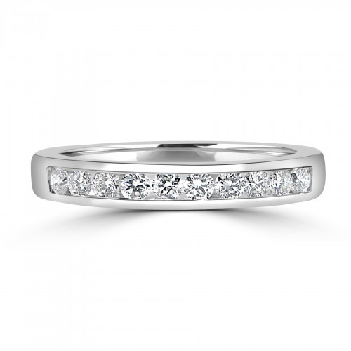 18W 10x RBC Dia 0.45ct Channel Eterinty Ring