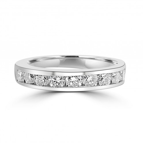 18W 10x RBC Dia 1.29ct Channel Eterinty Ring