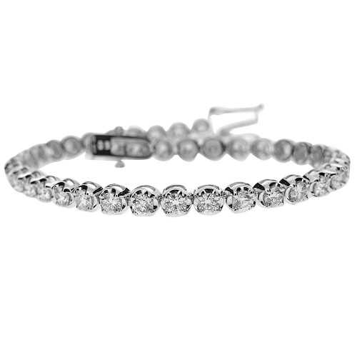 18W 40x RBC 4.71ct 4 Claw Crown Set Line Bracelet