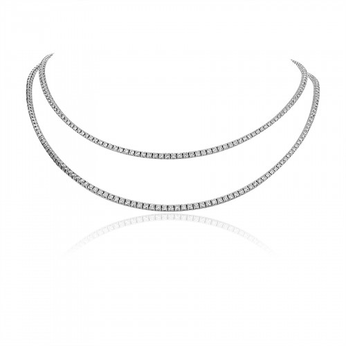 18W RBC 9.03ct 4 Claw Full Line Necklet