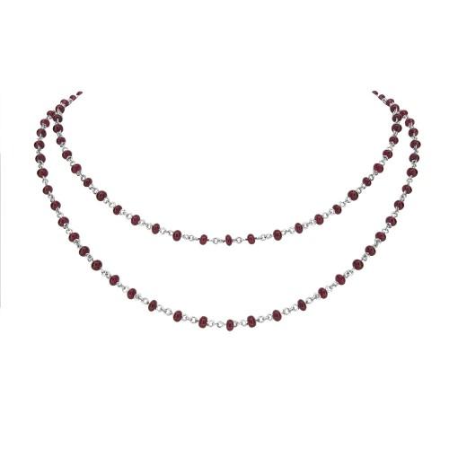 18W Ruby Bead & Chain 30