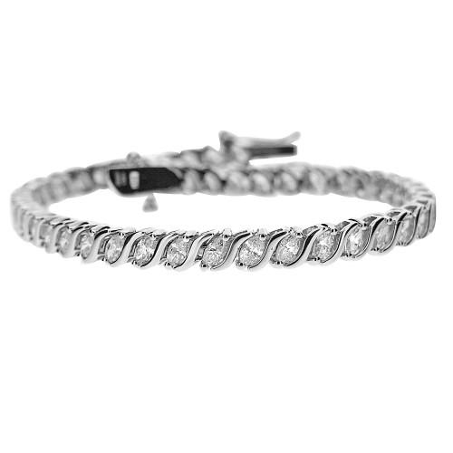 18W 47x MARQ 3.14ct Wave Bar Spacer Bracelet