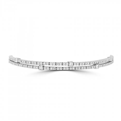 18W 204x RBC 2.43ct w/ Larger 2 Row Line Bracelet