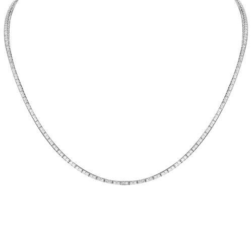 18W 245x RBC 2.80ct 4 Claw (Double Link) Line Necklace