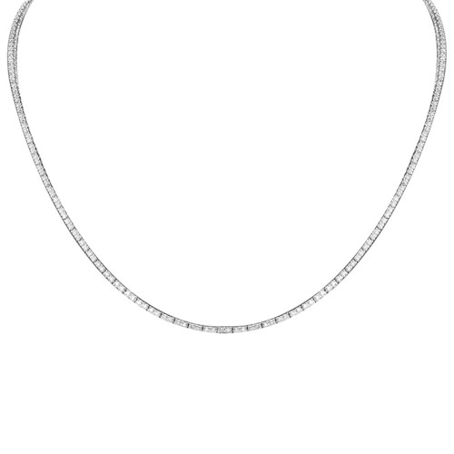 18W 245x RBC 2.24ct 4 Claw (Double Link) Full Line Necklace