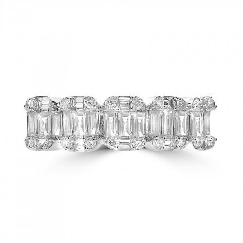 Octavia Half Eternity 5 Stone Style Ring