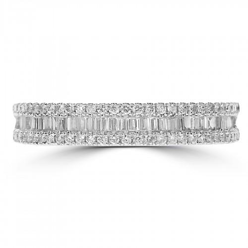 Octavia Half Eternity 0.50ct Straight Ring