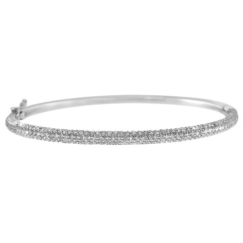 Diamond Pave Hinged Bangle