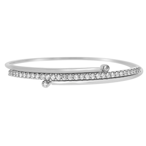 Diamond 3 Row Flexible Bangle