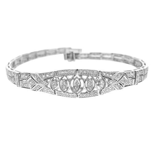 Diamond Art Deco Style Bracelet