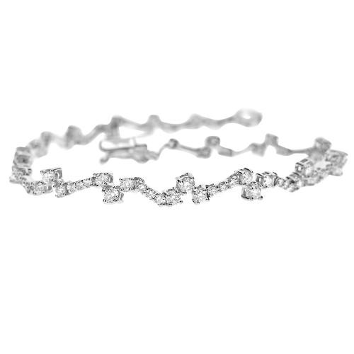 RBC 1.69ct Claw Set Staggered Design Bracelet