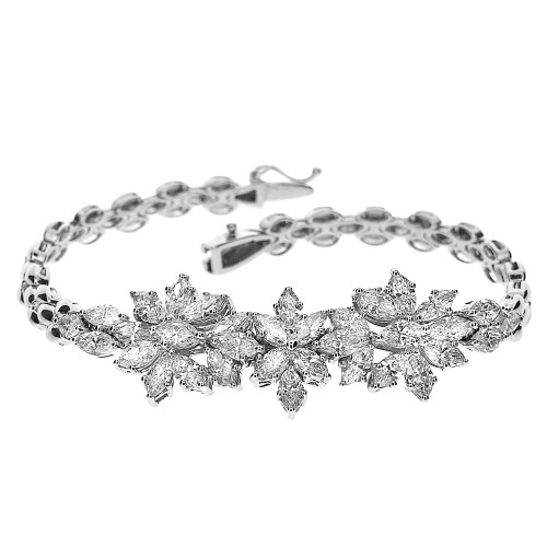 Diamond Marquise Cluster Cocktail Bracelet