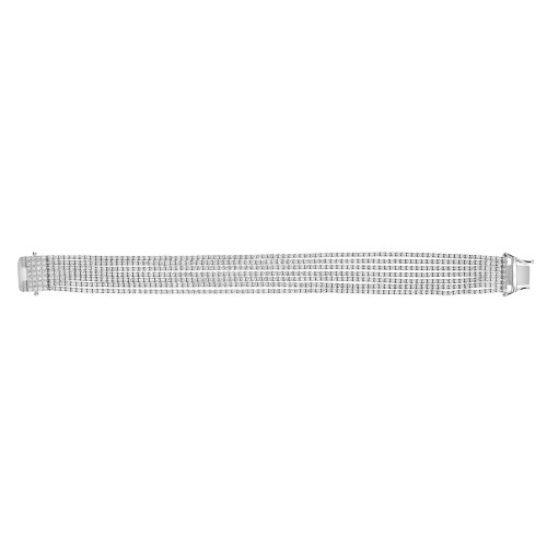 Diamond 7 Row Line Bracelet