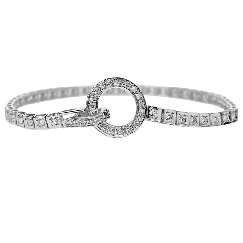 Diamond Circle Clasp Line Bracelet