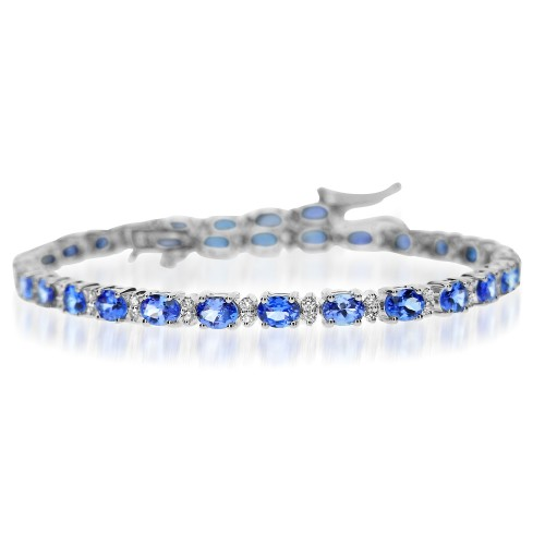 Tanzanite & Diamond Line Bracelet