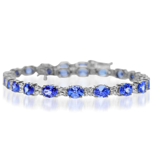 Tanzanite & Diamond Cluster Bracelet