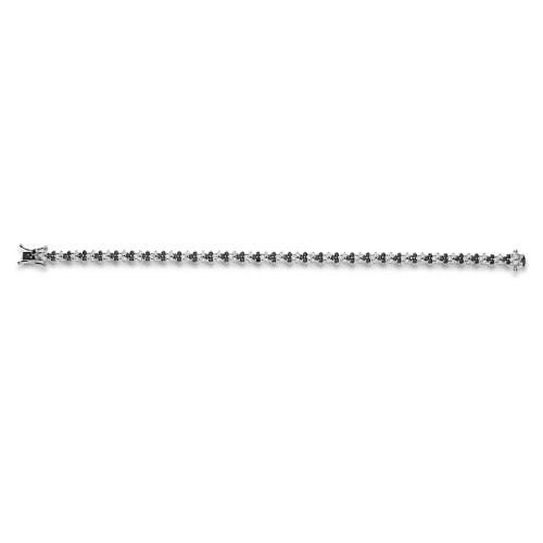 RBC 3.92ct (3xRBC 'v' Shape Link) Claw Set Links Alternating Black & White Dias Blet