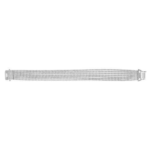 RBC 6.66ct 7 Row 4 Claw Line Bracelet