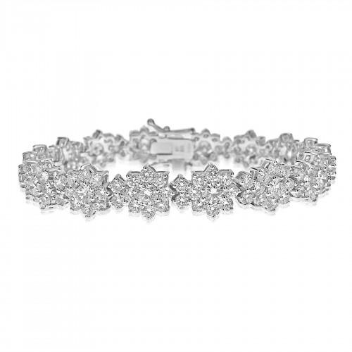 RBC 9.44ct Flower Cluster Fancy Bracelet