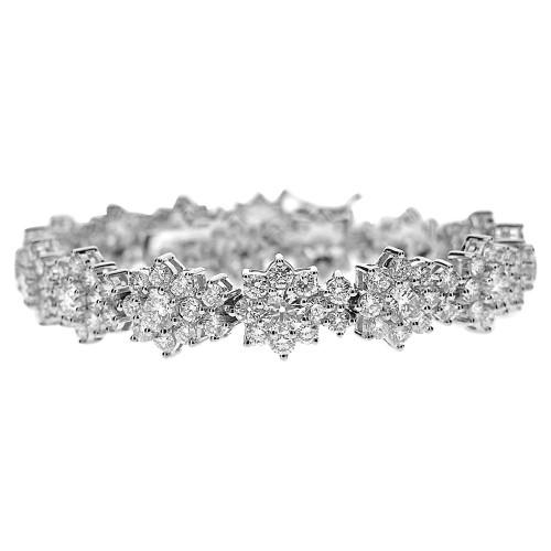 RBC 5.17ct Flower Cluster Fancy Bracelet