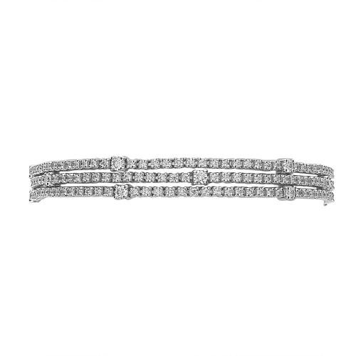 RBC 3.56ct 3 Row with Larger RBC Line Bracelet