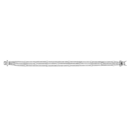 RBC 4.14ct 4 Claw Smaller Line With Larger RBC 3 Row Bracelet