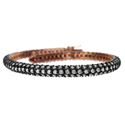 Diamond Snake Link Cocktail Bracelet