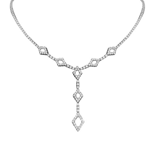 Diamond 'Y' Drop Necklace