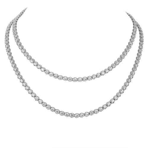 Diamond Sautoir Long Line Necklace
