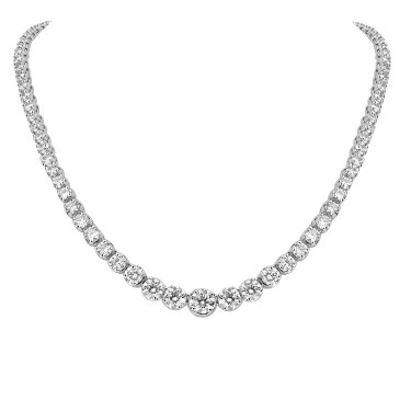Diamond Graduated Line Necklace
