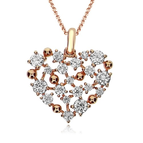 Diamond Heart Shaped Fancy Pendant