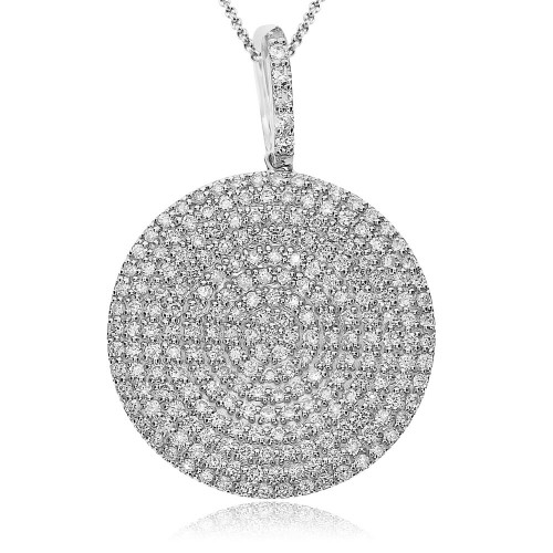 Diamond Disc Drop Pendant