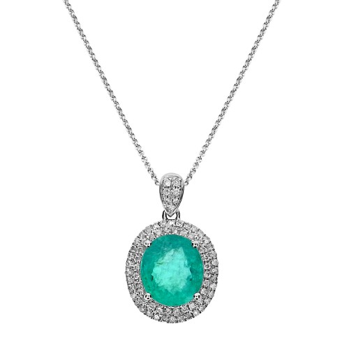 Paraiba Tourmaline & Diamond Surround Pendant