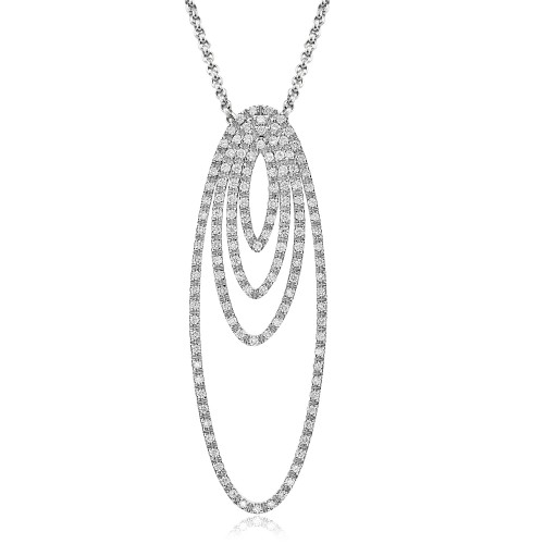 Diamond Oval Outlines Pendant