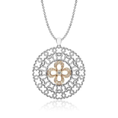 Diamond Fancy Quatrefoil Pendant