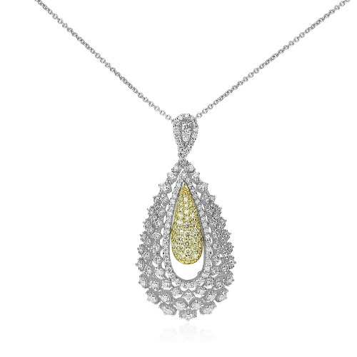 Diamond Fancy Pave Pearshape Pendant
