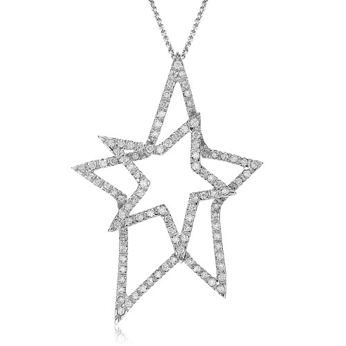 Diamond Outline Stars Pendant