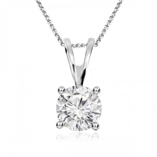 Diamond Solitaire 0.75ct Pendant