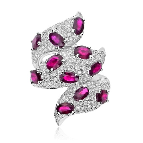 Ruby & Diamond Fancy Cocktail Ring