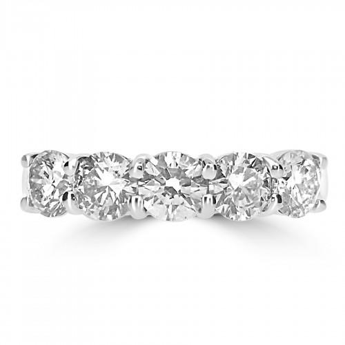 18W RBC 1.87ct Claw 5 Stone Ring